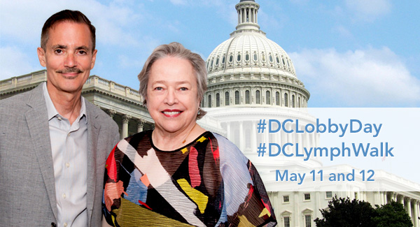 PRESS RELEASE: Kathy Bates to kick off LE&RN DC/VA #LymphWalk at Lincoln Memorial, May 12