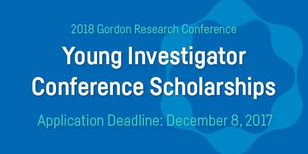 Young Investigator Conference Scholarships Deadline: December 8, 2017