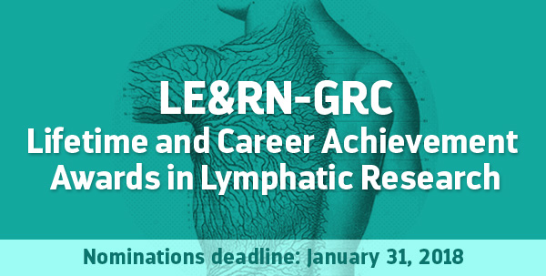 LE&RN-GRC Lifetime and Career Achievement Awards in Lymphatic Research