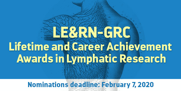 LE&RN-GRC Lifetime and Career Achievement Awards in Lymphatic Research 2020