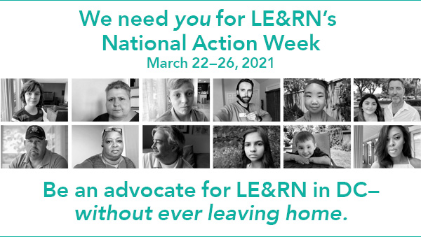 Sample phone call and email script for National Action Week, March 22-26, 2021