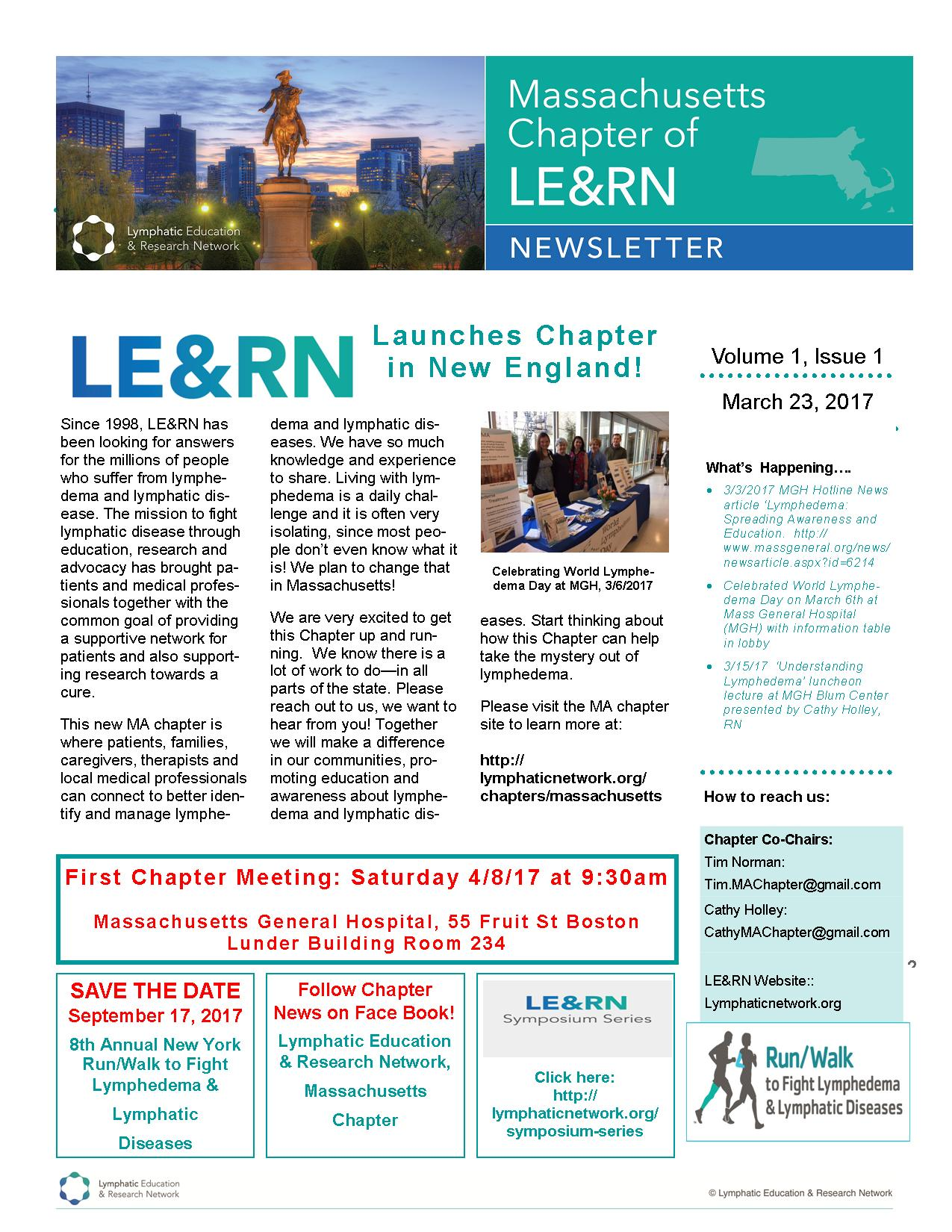 MA Chapter Newsletter issue #1