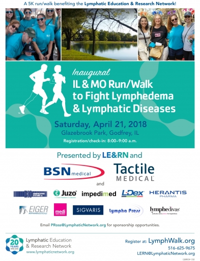 Inaugural Illinois & Missouri Run/Walk to Fight Lymphedema & Lymphatic Diseases Saturday, April 21